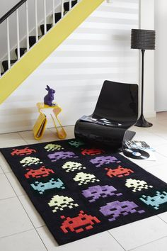 Space Invaders Rug by I Love Retro