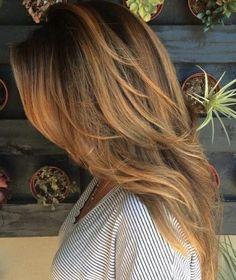 long brown hair / #fashion #hairstyles #beauty