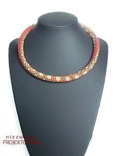 Red Turtle, #beadcrochet #necklace Niezwykła Projektownia #handmade