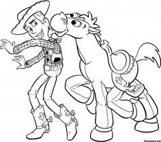 printable toy story 3 woody bullseye coloring pages printable coloring pages for kids - Printable Pages To Color