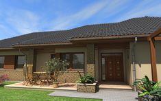 Egyszintes családi ház 195 m2 | Családiházam.hu Beautiful House Plans, Beautiful Homes, House Plans South Africa, House Extensions, Wall Ideas, New Homes, Patio, Gallery, Outdoor Decor