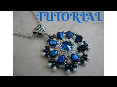 DIY - TUTORIAL Ciondolo Laguna con pip e superduo/twin - YouTube