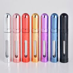 Hot Sale 12ML Mini Window Portable Refillable Aluminum Pefume Bottle With Sprayer Empty Parfum Cosmetic Container For Traveler-in Refillable Bottles from Health & Beauty on Aliexpress.com   Alibaba Group