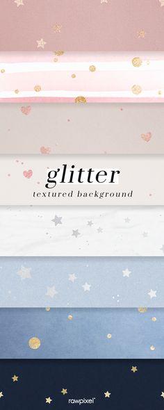 Star Background, Background Patterns, Textured Background, Wallpaper Backgrounds, Wallpapers, Glitter Hearts, Design Set, Shape Patterns, Badges