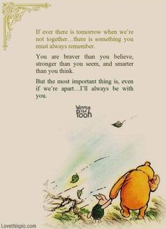 winnie the pooh you are stronger than you seem quote