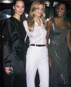 Christy Turlington, Claudia Schiffer and Naomi Campbell #90s#1995#supermodels