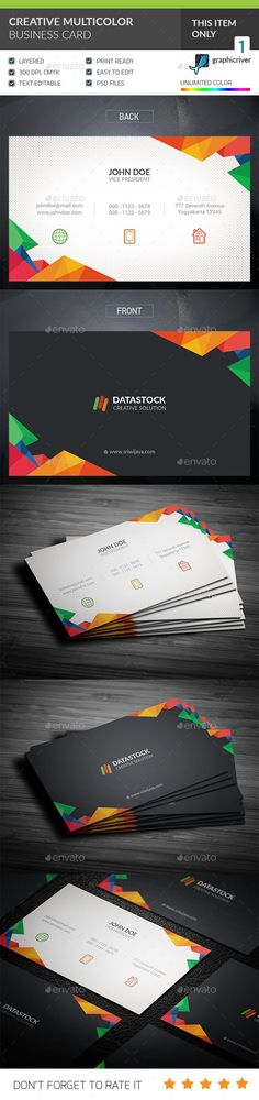 Creative Corporate Business Card Template PSD. Download here: https://graphicriver.net/item/creative-corporate-business-card/17611661?ref=ksioks