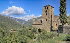 Iglesia de Santa Eulalia (S. XI-XII), Beranuy (Ribagorza, Huesca). Interesante ejemplar de arte románico con campanario de tradición lombarda