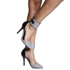 """Ankle Cuff Pumps Pointed toe pumps with a thick ankle cuff style and a side lock design. Super chic. Heel height: 4.25"""" Shoes Heels"""
