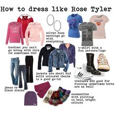 how to dress like Rose Tyler, a guide, created by doctorwhodressing on Polyvore