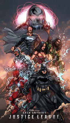 Zack Snyder Justice League, Justice League Comics, Arte Dc Comics, Dc Comics Superheroes, Marvel Comics Art, Dc Comics Characters, Universe Movie, Batman Universe, Comics Universe