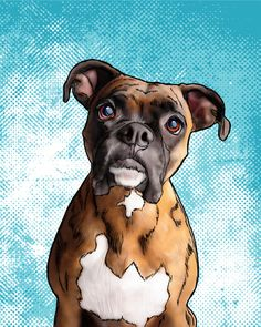 Custom Digital Pet Portrait. Personalized dog by CsillasCraftiques  For gallery wall above Baby Z's crib