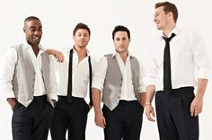 Boy Band Blue wore our tuxedos for The Daily Mirror photoshoot