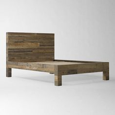 Emmerson Bed Set | west elm We could TOTALLY build this, the whole thing is reclaimed 4x4's