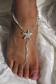 3f643530bb5af0 Bottomless Foot Jewelry Beach Weedding Bride Beach Shoes Bridesmaids Jewelry  ---- ONE PAIR