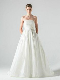 Anne Barge strapless wedding dress (with pockets!)