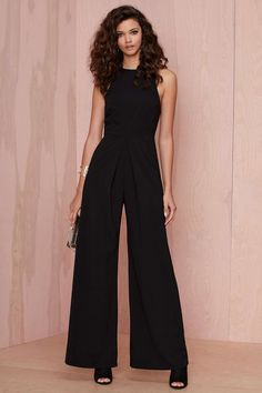 Nasty Gal Long Way Wide-Leg Jumpsuit   Shop Clothes at Nasty Gal