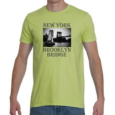 T-shirt New York Brooklyn Bridge. 2 colors. by Exclusive21