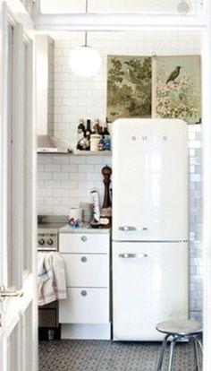 Vintage looking European style Refrigerator..