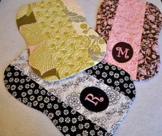 In the Hoop - Pieced Quilted Monogram Burp Cloth In the Hoop -