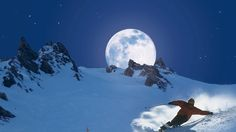 With lot of swing into the new year 2015! (Moon skiing in the Lenzerheide)