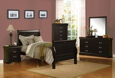 Louis Philippe III Full Bed - 19508F