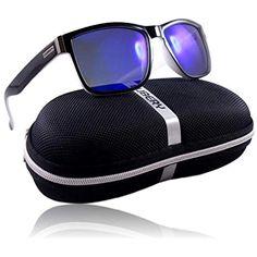 8990fa2dd WinLook Gafas de sol con lentes polarizados certificados UV400 Cómodas y  ligeras Diseño elegante Estuche de