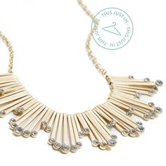 This just in: get fabulously festive with a statement necklace that will spice up any neckline! (Larson Crystal Fringe Statement Necklace) #holidaystyle