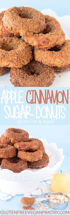 Apple Cinnamon Sugar Donuts - Vegan + Gluten-Free | glutenfreeveganpantry.com