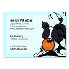 Pet Sitting Border Collie Friendly Bright Business Card Templates. I love this design! It is available for customization or ready to buy as is. All you need is to add your business info to this template then place the order. It will ship within 24 hours. Just click the image to make your own!