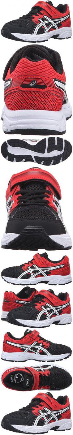 ASICS Pre-Contend 3 PS Running Shoe (Little Kid), Black/White/Vermilion, 12 M US Little Kid