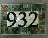 Custom Mosaic Address Plaque
