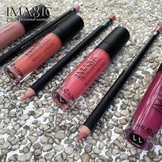 IMAGIC lip gloss Lipliner kit Waterproof Strawberry Gloss matte lipstick kit Lip Paint lip combination