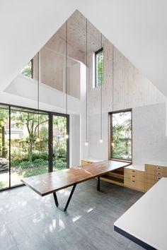 luz doble altura espacio Dulwich Residence / NatureHumaine