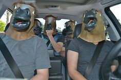 Horse head mask party!