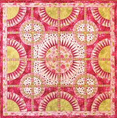 Joyful by Jacqueline de Jonge | Be Colourful. New York Beauty quilt, rose collection