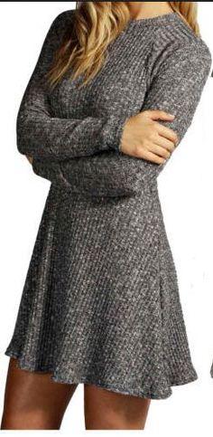 Gergeos Mini Sweater Dress Womens Solid Ribbed V-Neck Sleeveless Tank Vest Knitted Dress