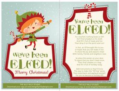 You've Been Elfed - with Christmas items out by August in craft and a bit later in fabric stores, easy to plan a basket or platter or covered plastic box for this.