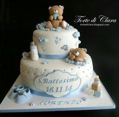 Torta Baby Shower, Baby Shower Cupcakes, Shower Cakes, Baby Shower Themes, Baby Boy Cakes, Cakes For Boys, Theme Bapteme, Teddy Bear Cakes, Cute Cakes