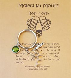 Hops Humulone Beer Brewing Molecule Chemistry Science Nerdy Gift Keychain by MolecularMotifs on Etsy