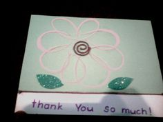 Flower Power Thank You Card