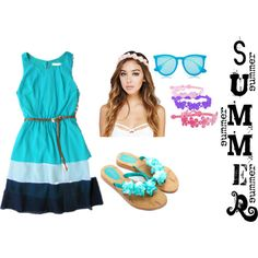 Summer by fivesoslover4eva on Polyvore featuring Bling Jewelry, Wet Seal and Ray-Ban
