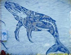 Sealife Mural in Rarotonga by RDPixelShop, via Flickr -- Bought a big print of this from the artist before we left... Have always loved it!!  My kids love finding the sea creatures hidden in the whale. So happy it survived the Pacific crossing, 2 airlines & customs undamaged.