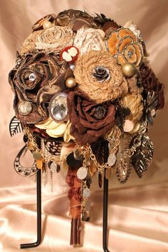 Hey, I found this really awesome Etsy listing at https://www.etsy.com/listing/130247318/neutral-brooch-bouquet-rustic-bouquet
