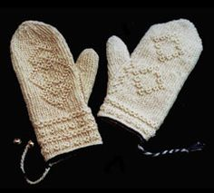 twined mittens, featured in our upcoming October class!