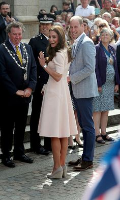 Kate Middleton wears Lela Rose for first engagement of Cornwall visit