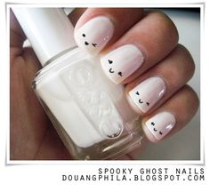 Emoticon nails? or spooky tips for halloween?