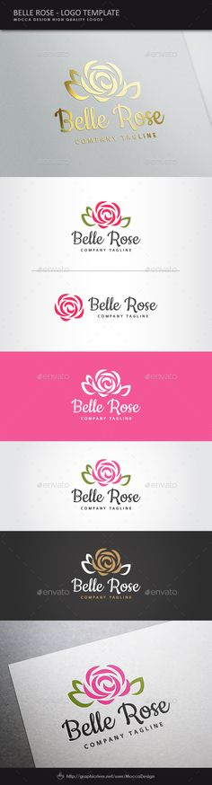 Belle Rose Logo — Vector EPS #eco-friendly makeup #fitness gym • Available here → https://graphicriver.net/item/belle-rose-logo/11355565?ref=pxcr