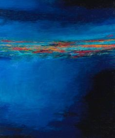 Martyn Brewster (British, b. 1952), Seascape series 36. Oil on canvas, 180 x 150 cm
