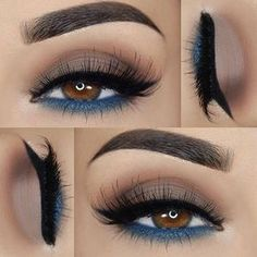 pretty eye make up Smoke Eye Makeup, Prom Eye Makeup, Party Makeup, Hair Makeup, Brown Eyes Makeup, Eyemakeup For Brown Eyes, Natural Eye Makeup, Gorgeous Makeup, Love Makeup